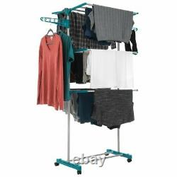 Clothes Airer 3 Tier Laundry Dryer Concertina Indoor Outdoor Patio Deluxe Rack