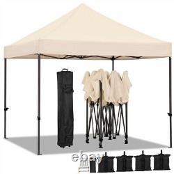Commercial Pop-up Canopy Heavy Duty Waterproof Adjustable Gazebo Instant Tent