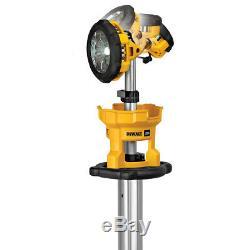 DeWALT DCL079B 20-Volt MAX Heavy Duty Cordless LED Tripod Light Bare Tool