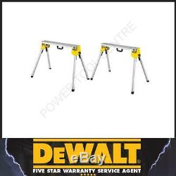 DeWalt DE7035 Heavy Duty Portable Work Support Saw Accessory Stand Two Pack