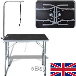 Dog Pet Cat Grooming Beauty Table Adjustable Folding Versatile Bath Table UK