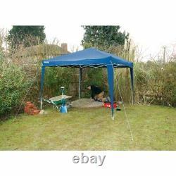 Draper 3m x 3m Steel Leg Blue Splashproof Cover Garden Outdoor Gazebo, 76940
