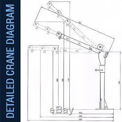 Electric Jib Crane 12v 3000lb Heavy Duty Rhino Winch Portable Hoist Deer Lift