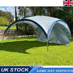 Event Shelter Gazebo Dome Camping Festival 4x4m Strong Metal Frame Inc Curtain