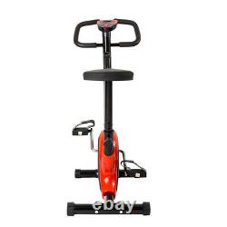 Exercise Bike LCD Monitor Adjustable Tension Padded Seat Cardio Machine Portable