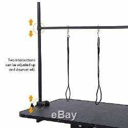 Extra Large Heavy Duty Hydraulic Pet Dog Grooming Table Station Bar Arm 3 Leash