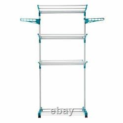 Foldable Extra Large 3 Tier Indoor Outdoor Clothes Airer Laundry Dryer Rack New