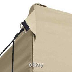 Folding Party Tent Pop up Gazebo 3x4m Wedding Marquee Steel Heavy Duty Cream New
