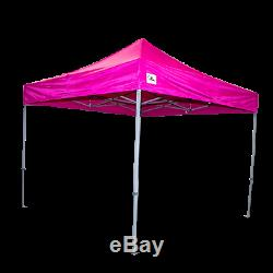 Gala Tent Pop 32mm Pink Commercial Gazebo 3 x 3 Easy Up Pop Up With Sides