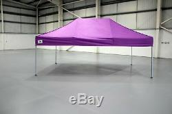 Gala Tent Pop 32mm Purple Commercial Gazebo 3 x 6 Easy Up Pop Up Without Sides