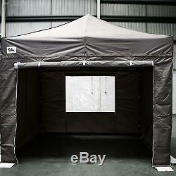 Gala Tent Pop 32mm Taupe Commercial Gazebo 3 x 3 Easy Up Pop Up With Sides