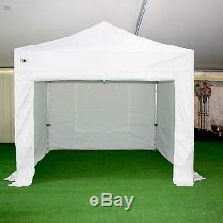 Gala Tent Pop 40mm White Commercial Gazebo 3 x 3 Easy Up Pop Up With Sides