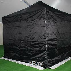 Gala Tent Pop 50mm Black Commercial Gazebo 3 x 3 Easy Up Pop Up With Sides