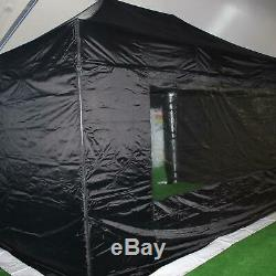 Gala Tent Pop 50mm Black Commercial Gazebo 3 x 4.5 Easy Up Pop Up With Sides