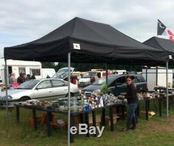 Gala Tent, heavy duty pop up gazebo 3m x 4m Gala Shade Pro MX 40 gazebo (Black)