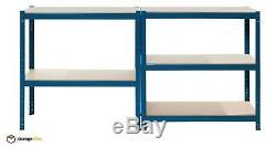 Garage Shelving Unit Blue 5 Tier EXTRA Heavy-Duty 180x90x45cm Racking Shelf