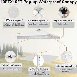 Garden Gazebo 3x3M Heavy Duty Warquee Pop-up Canopy Waterproof Party with4Sides UK