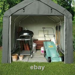 Garden Gear Apex Waterproof Shed 6x6 8x12ft Firewood Log Portable Car Storage