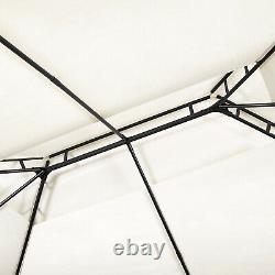 Garden Metal Gazebo 3x4M Patio Party Tent Marquee Canopy Pavilion Sidewall Beige