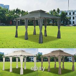 Garden Metal Gazebo 3x4M Patio Party Tent Marquee Canopy Pavilion withSidewalls