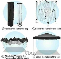 Gazebo 3x3m Pop Up Marquee Party Tent Awning Outdoor Patio Market Wedding Canopy