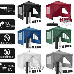 Gazebo 3x3m Waterproof Pop up Marquee Outdoor Event Shelter Party Tent With4 Sides