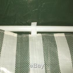 Gazebo 3x3m with 4 Sides 2 Sides with Windows Steel Poles Four Redstone