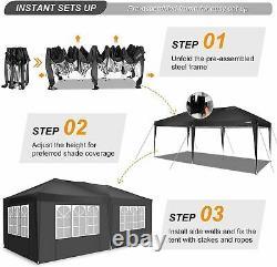 Gazebo 3x6M Heavy Duty Pop Up Marquee Waterproof Garden Party Patio Tent Canopy
