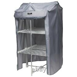 GlamHaus Electric Heated Clothes Airer Dryer Indoor Foldable Horse Rack 3 Tier