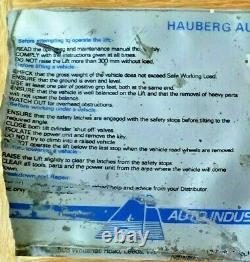 HAUBERG AUTOLIFT Hydraulic Car Lift Hoist Ramp Portable Versatile Rare Item