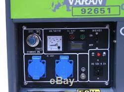 HEAVY DUTY DIESEL GENERATOR 3,3kW 230V 12VDC GENERATOR 3300W PORTABLE