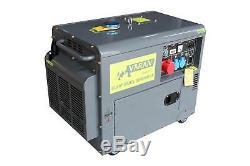 HEAVY DUTY DIESEL GENERATOR 5,5kVA 400V, 230V 12VDC GENERATOR 5500kVA PORTABLE
