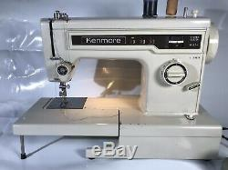 HEAVY DUTY KENMORE SEWING MACHINE Free Arm 158-13410 Manual + Extra Accessories