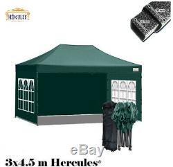 HERCULES GAZEBO 3m x 4.5m STEEL FRAME POP UP GAZEBO COMMERCIAL GRADE HEAVY DUTY