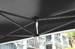 HERCULES GAZEBO HEAVY DUTY BLACK COMMERCIAL GRADE POP UP TENT MARQUEE 3m x 3m