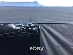 HERCULES HEAVY DUTY COMMERCIAL GRADE POP UP ALUMINIUM 40 HEX GAZEBO 3m x 4.5m
