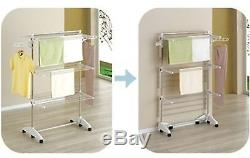Hanger Drying Rack Clothes Laundry Folding Dryer Indoor Stainless steel Large