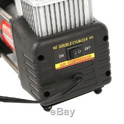 Heavy Duty 12v Electric Car Tyre Inflator 100psi Air Compressor Pump Uk New