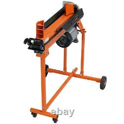 Heavy Duty 7 Ton Electric Log Splitter Hydraulic With Caster Stand & Duoblade