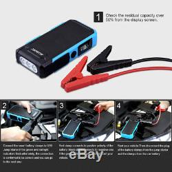 Heavy Duty 800A 20000mAh Jump Starter Battery Car Power LED Bank Charger Booster