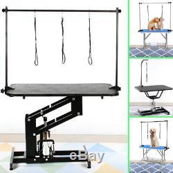 Heavy Duty Adjustable Portable Mobile Folding Dog Cat Pet Bath Grooming Table UK