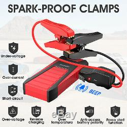 Heavy Duty Car Jump Starter Booster Battery Charger Power Bank 25000mAh 2500Amp