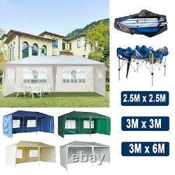 Heavy Duty Garden Tent Pop up Gazebo Canopy Wedding Party Marquee 3x3m 3x6m