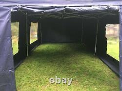 Heavy Duty Gazebo 6m x 3m with roof and sides 5 windows and 1 door panel