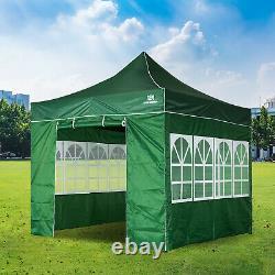 Heavy Duty Gazebo Marquee Pop-up Waterproof Garden Party Tent withSides 3x3M Green