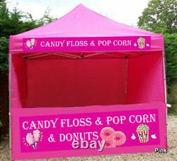 Heavy Duty Gazebo Mobile Kiosk Catering Trailer Signage Marquee Pop Up Tent