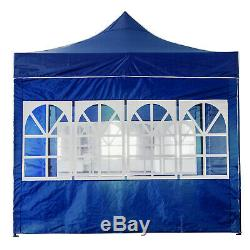 Heavy Duty Gazebo Pop-up Marquee Canopy Waterproof Garden Party Tent 3x3M Blue