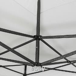 Heavy Duty Gazebo Pop-up Marquee Canopy Waterproof Garden Party Tent 3x3M White