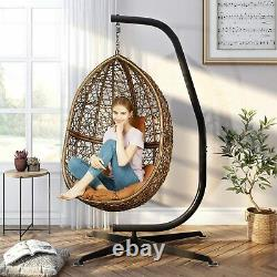 Heavy Duty Hanging Swing Egg Chair Stand Strong Metal Hammock C-Stand w Buckle