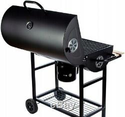 Heavy Duty Large Charcoal Barrel BBQ Grill Garden Barbecue Mini Smoker Work Area